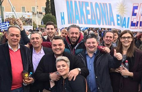 Στο συλλαλητήριο για τη Μακεδονία ο Μιχάλης Βρεττός (βίντεο)