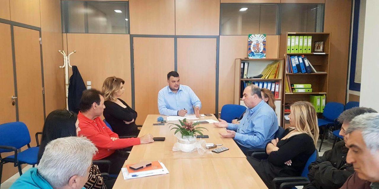 Ευρεία σύσκεψη του Αντιδημάρχου Οικονομικών, Μιχάλη Βρεττού με τις υπηρεσίες του